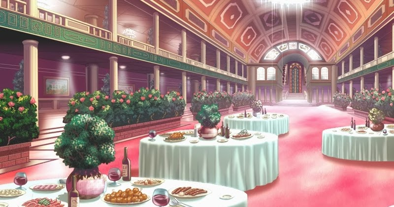 a picture of living room big rugs for anime landscape: restaurant (anime background)